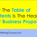 Consultancy Proposal: How to Define the Table of Contents