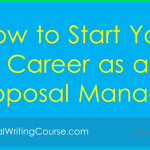 Proposal Manager: Starting a Career in Procurement
