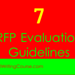 7 Request For Proposal Evaluation Guidelines