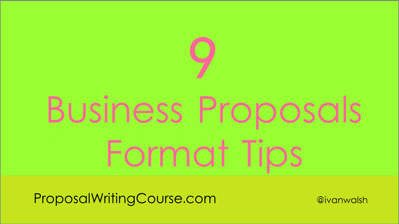 business proposal writing tips