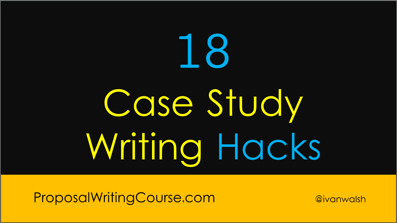 what is the format for writing a case study