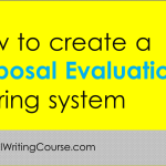 How To Create a Proposal Evaluation Scoring System